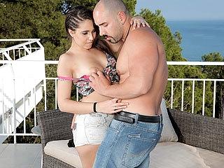 Latina bombshell Nikki moans loud while she gets banged