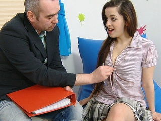 Mila knows all too well that her tight pussy is priceless. She even fucks teachers for A-grades.