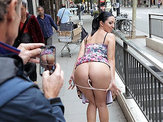 Latina bombshell babe Pamela sucks and fucks a mighty cock