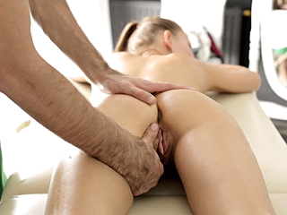 Tall slim attractive blonde girl Nika gets banged by her male therapist